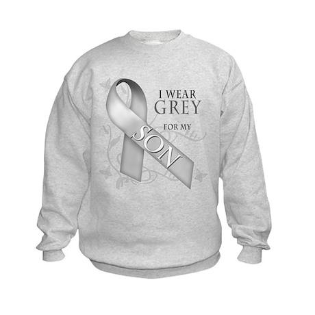 I Wear Grey for my Son Kids Sweatshirt