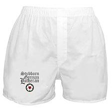 Stubborn German Lutheran Boxer Shorts