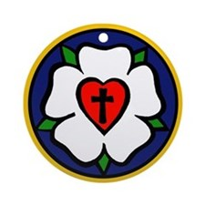 Luther Rose Ornament (Round)