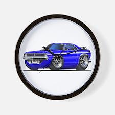 1970 Cuda Blue Car Wall Clock