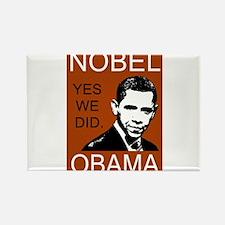 Nobel Peace Prize Obama Rectangle Magnet