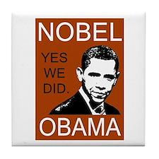 Nobel Peace Prize Obama Tile Coaster