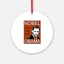 Nobel Peace Prize Obama Ornament (Round)