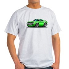 1970 Cuda Green Car T-Shirt