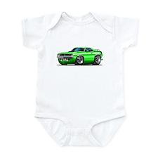 1970 Cuda Green Car Infant Bodysuit