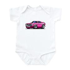 1970 Cuda Pink Car Infant Bodysuit