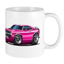 1970 Cuda Pink Car Mug