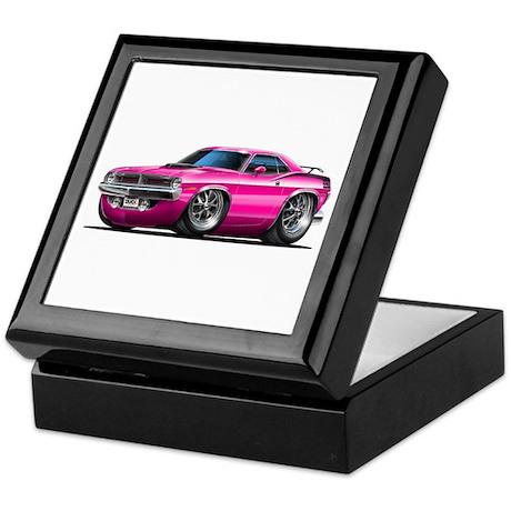 1970 Cuda Pink Car Keepsake Box