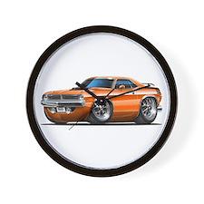 1970 Cuda Orange Car Wall Clock