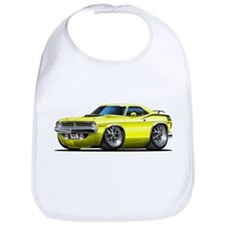 1970 Cuda Yellow Car Bib