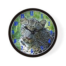 Wall Clock Leopard