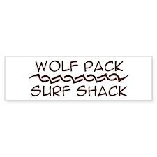 Wolf Pack Surf Shack Bumper Bumper Sticker