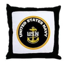 CPO Anchor Gold Circle Throw Pillow