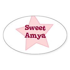 Sweet Amya Oval Decal