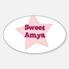 Sweet Amya Oval Decal