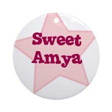 Sweet Amya Ornament (Round)