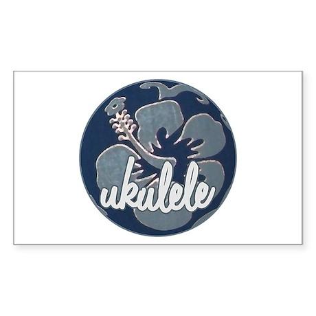Hawaiian Uke - Rectangle Sticker