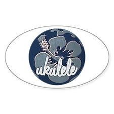 Hawaiian Uke - Oval Decal