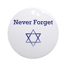 Holocaust Remembrance Hanukkah Ornament (Round)