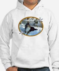 Winter River Sheltie Section Hoodie