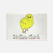 Sicilian Chick Rectangle Magnet