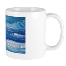 floating icebergs Mug
