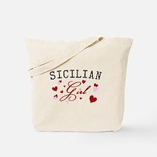 Sicilian Girl Hearts Tote Bag