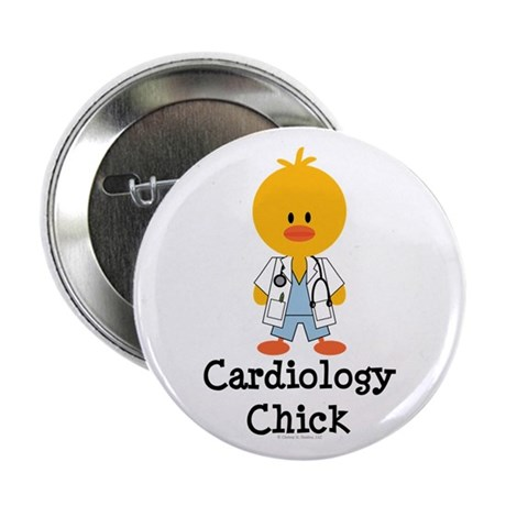 """Cardiology Chick 2.25"""" Button"""
