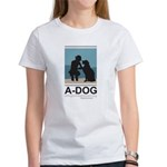 "A-DOG ""Blue Square"" Women's T-Shirt"