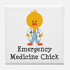 Emergency Medicine Chick Tile Coaster