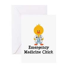Emergency Medicine Chick Greeting Card