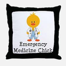 Emergency Medicine Chick Throw Pillow