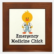 Emergency Medicine Chick Framed Tile