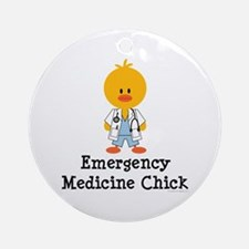 Emergency Medicine Chick Ornament (Round)