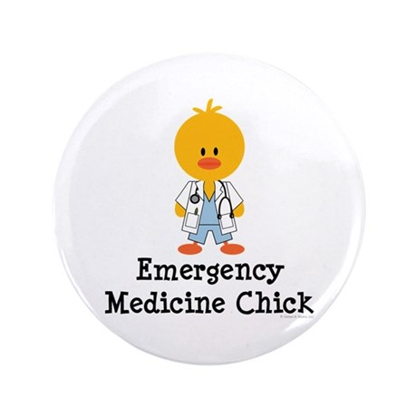 "Emergency Medicine Chick 3.5"" Button (100 pack)"