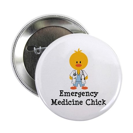 "Emergency Medicine Chick 2.25"" Button (10 pack)"