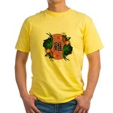 Chinese new year rooster Mens Yellow T-shirts