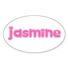 """Jasmine"" Oval Decal"