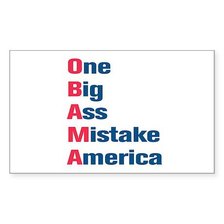 Anti Obama Rectangle Sticker