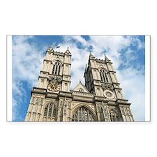 Westminster Abbey Rectangle Sticker 10 pk)