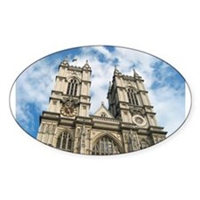 Westminster Abbey Oval Sticker (10 pk)