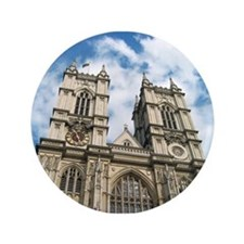 """Westminster Abbey 3.5"""" Button"""