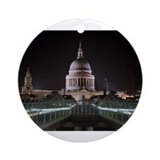 St Pauls Cathedral at Night Ornament (Round)