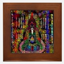 Psychedelic Meditation Framed Tile