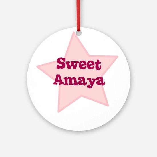 Sweet Amaya Ornament (Round)