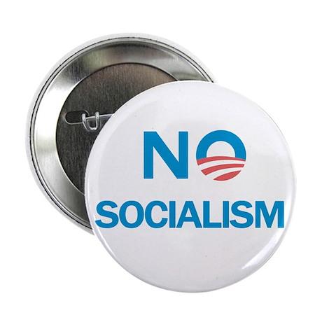 "No Socialism 2.25"" Button"