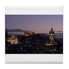 Illuminated Edinburgh Tile Coaster