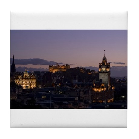 Illuminated Edinburgh Tile Coaster