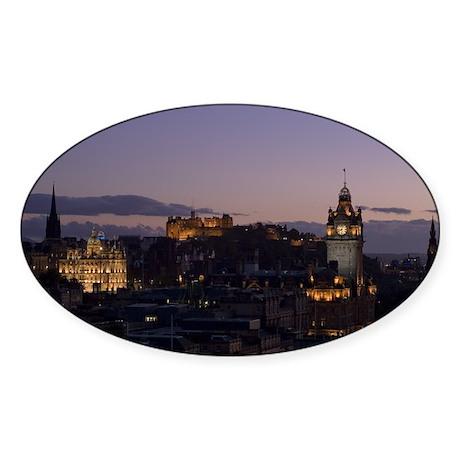 Illuminated Edinburgh Oval Sticker (10 pk)