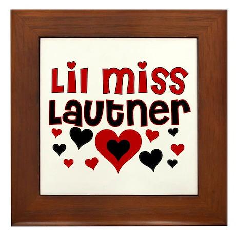 Lil Miss Taylor Lautner Framed Tile